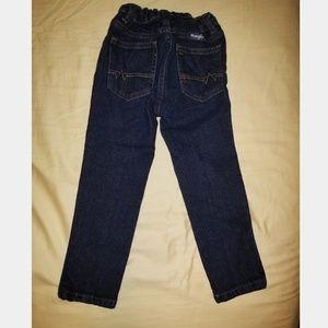 4T adjustable Wrangler dark blue jeans like new